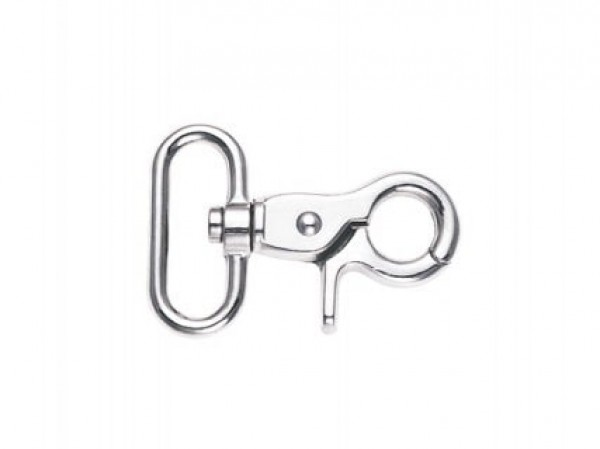 scissor carabiner made of zinc die-casting, 5,7cm long, for 30mm wide webbing - 10 pieces