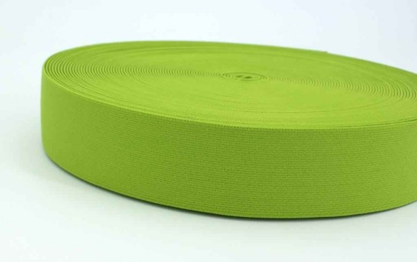 elastic webbing - 40mm wide - color: lime - 3m roll
