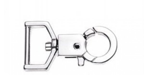 snap hook made of zinc die-casting - 4,5cm long - 19mm hole - 10 pieces