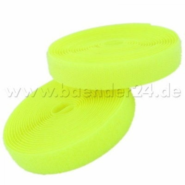 4m Velcro (Velcro & Hook) 20mm wide, color: neon yellow - for sewing