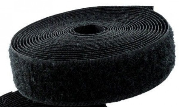 25m loop tape, 50mm wide, Color: black - for sewing on