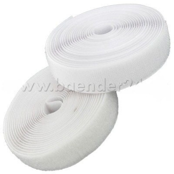 25m Velcro (Hook & Loop), 40mm wide, color: white - for sewing