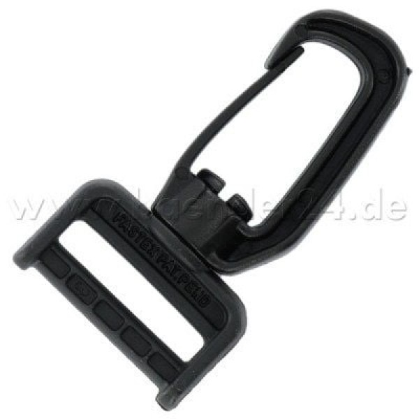 carabiner, rotatable, 40mm wide, 1 piece