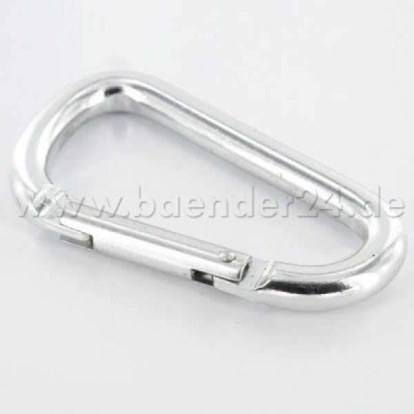10 key carabiner made of aluminum - 75mm long - color: silver