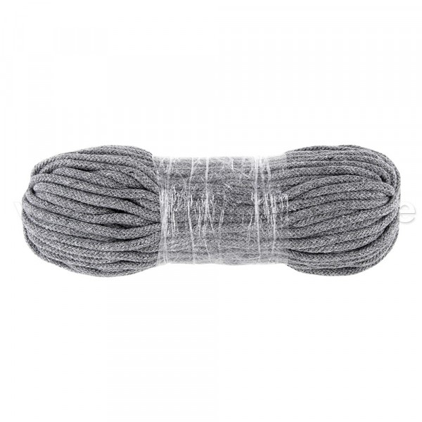 50m cotton cord / BW cord - 5mm thick - color: gray