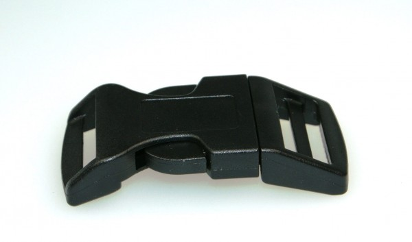 curved buckle for 15mm wide webbing, made of synthetic fiber