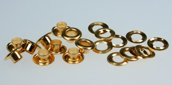 loops with counterparts - 5mm - color: gold - 100 pieces