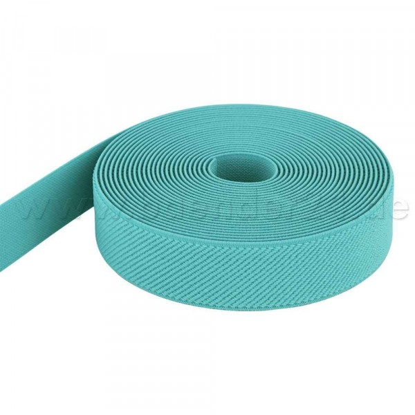 5m roll elastic webbing - color: mint - 25mm wide