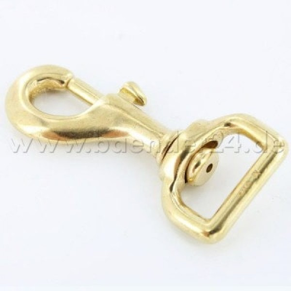 bolt carabiner 7,6cm made of brass, for 20mm webbing - 1 piece