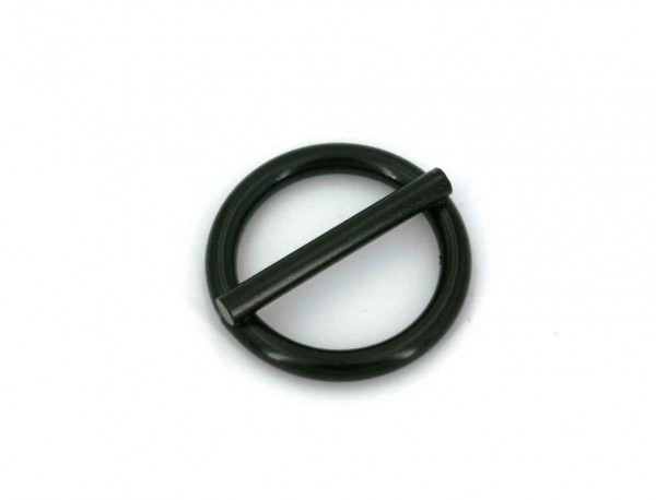 25mm ring with bar (inner measurement) - welded made of steel - black - 1 piece