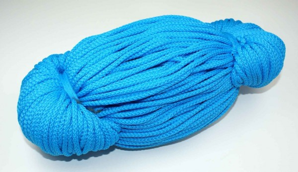 2mm thick polyester cord - 100m length - color: blue