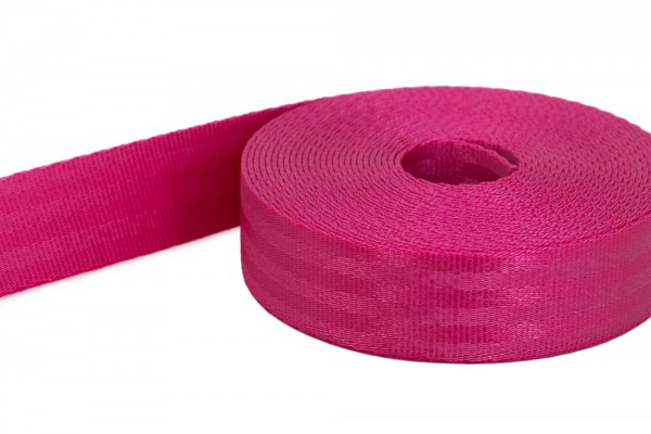 5m safety webbing - pink - made of polyamide - 25mm wide - load capacity: up to 1t