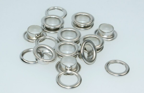 loops with counterparts - 5mm - color: silver - 10 pieces