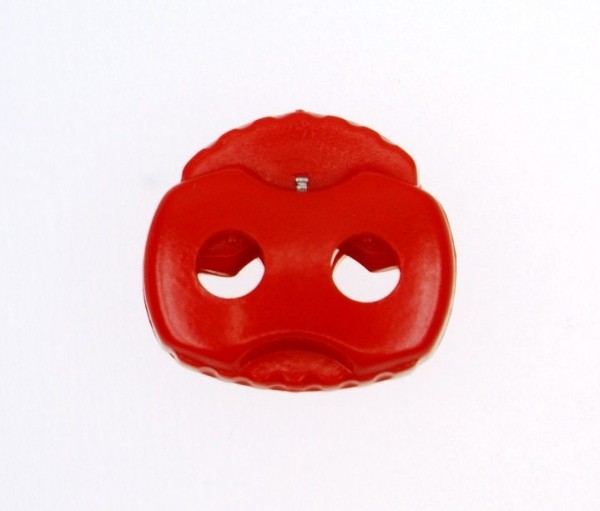 cord stopper - 2 holes - up to 4mm - red - 10 pieces