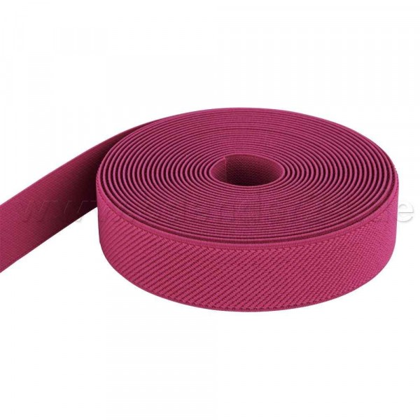 50m Rolle Gummiband - Farbe: pink - 25mm breit