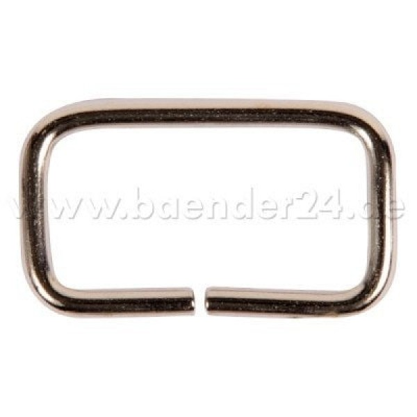 Square ring - made of steel - nickel-plated - 40mm hole - 21mm height - non-welded - 10 pieces
