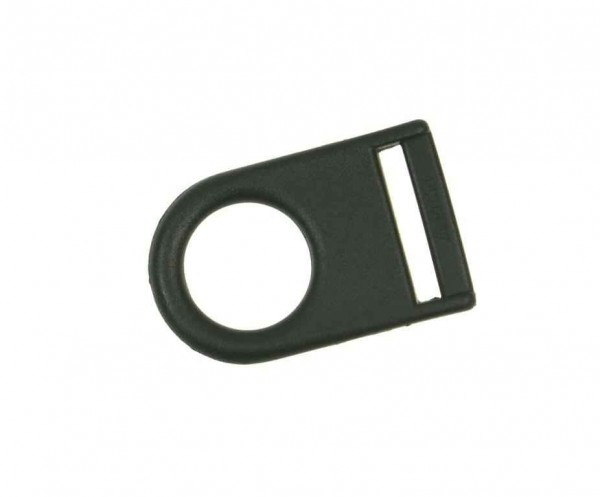 D-ring PULL made of nylon with round loop - for 25mm wide webbing - 1 piece