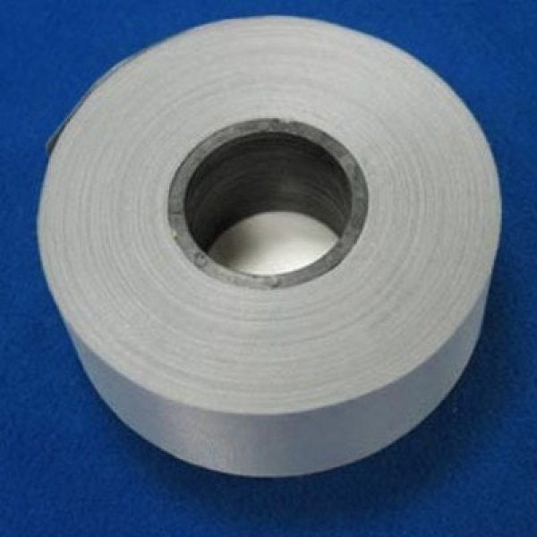 50m roll reflective webbing silver made of polyester - 25mm wide - for sewing on