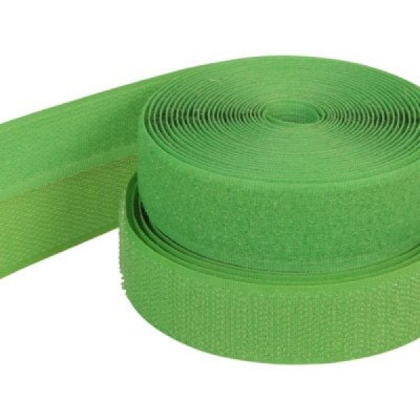 25m Velcro tape, 25mm wide, color: green, 25mm wide, 25m roll