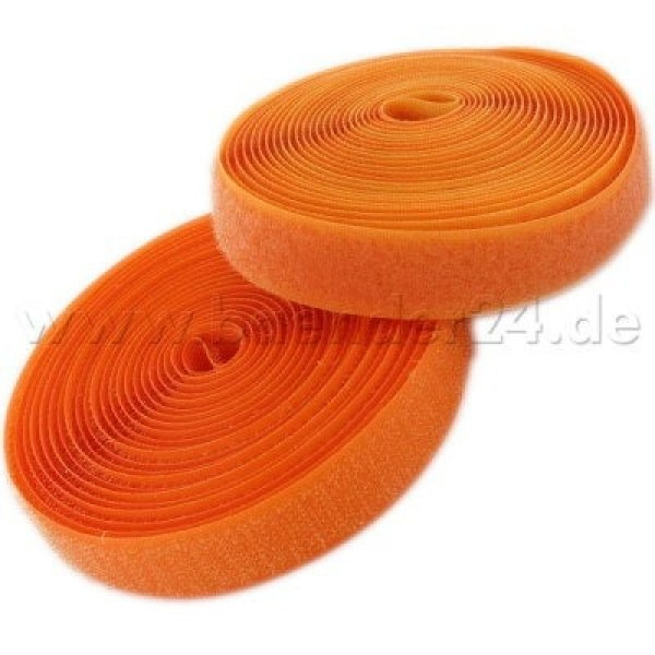 4m Velcro (Velcro & Hook) 25mm wide, color: orange - for sewing
