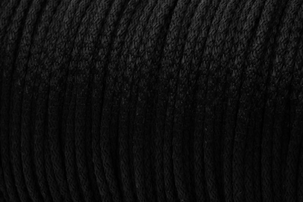 50m PP-String - 3mm thick - Color: black (UV)