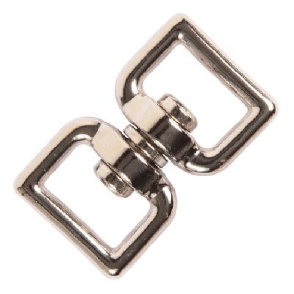 """1"""" double swirl made of zinc die-casting, nickel-plated, for 25mm wide webbing - 1 piece"""