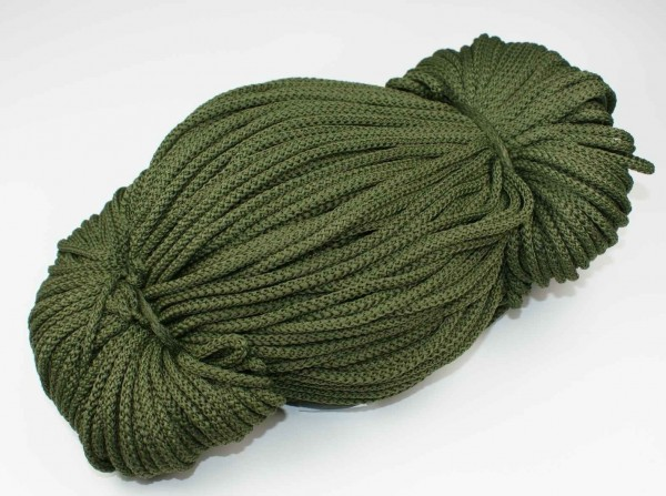 2mm thick polyester cord - 100m length - color: olive
