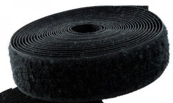 25m Velcro tape loop - 16mm wide, colour: black - for sewing