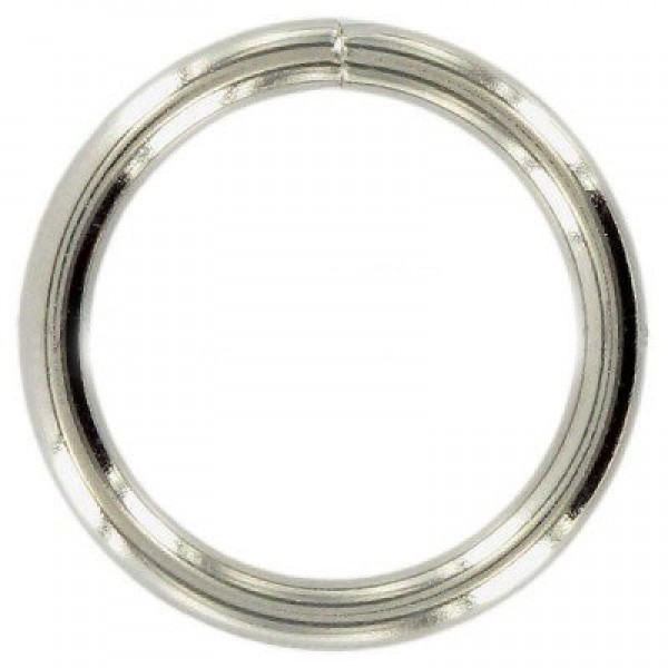 20mm o-rings, welded made of steel, nickel-plated - 10 pieces