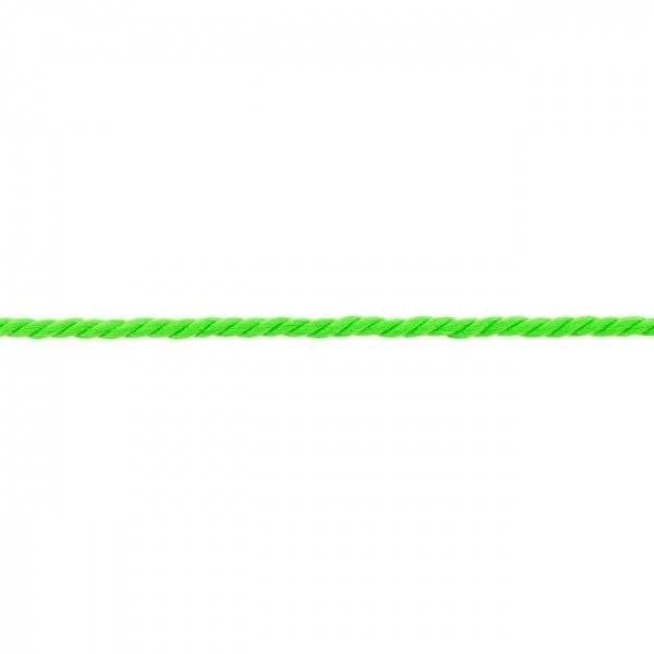 polyester braided cord - colour: neon green - 5mm thick - 25m roll