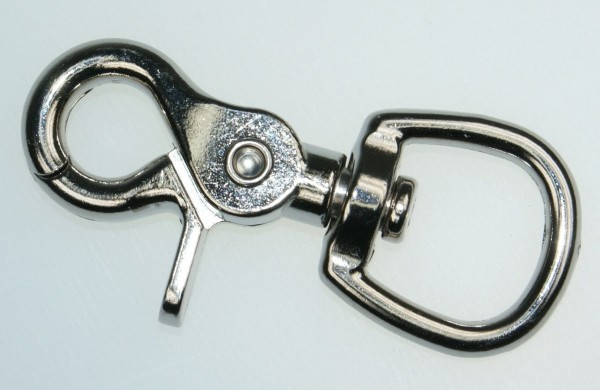 scissor carabiner with swirl - 6,8cm long - 20mm hole - 10 pieces