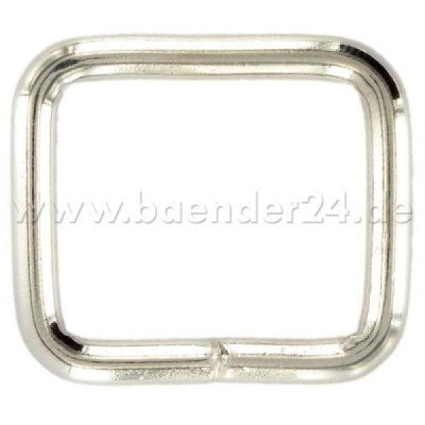 40mm square ring - welded made of 5mm Thickness steel - nickel-plated, for 40mm wide webbing - 1 piece