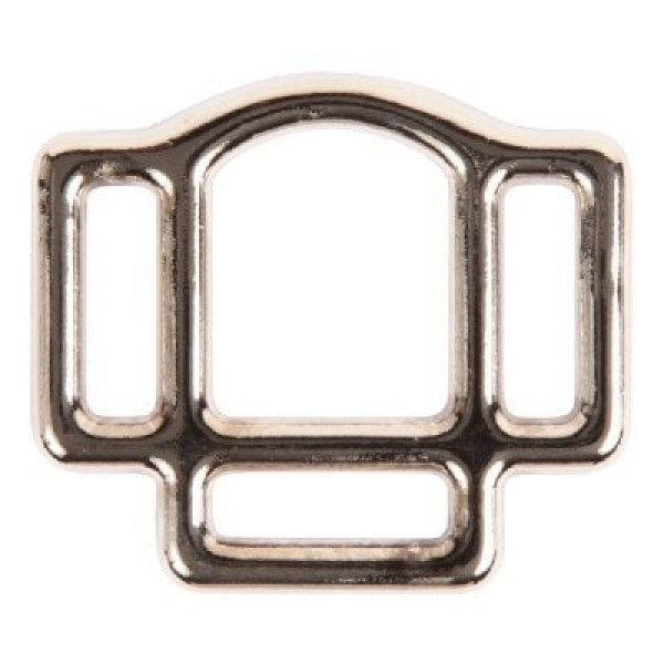 head collar ring made of malleable cast iron with 3 loops for 25mm wide webbing - 1 piece