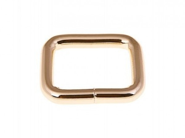 frame ring made of round steel - golden - 28 x 20 x 6mm - 10 pieces