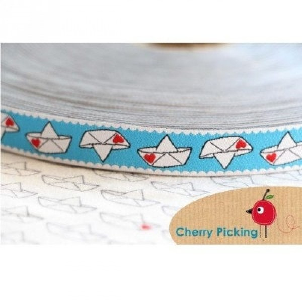 webbing design by Cherry Picking, 15mm wide, Love Boat