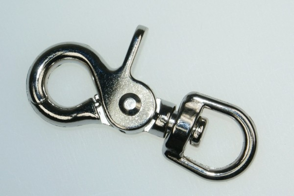scissor carabiner with swirl - 6,3cm long - 13mm hole - 10 pieces