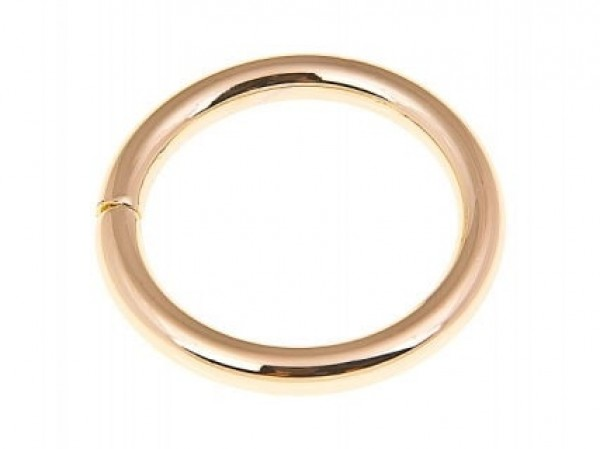 25mm toroidal ring (inner measurement) - 6,5mm thick - color: golden - 10 pieces