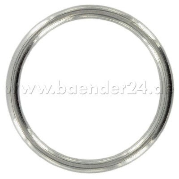 20mm o-ring (inner measurement) made of V4A stainless steel, welded - 1 piece