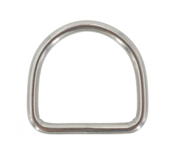 D-ring made of stainless steel, 50mm inner measurement - 10 pieces