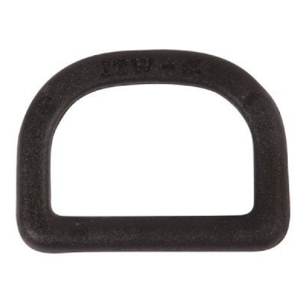 Nylon D-rings for 20mm wide webbing - 50 pieces