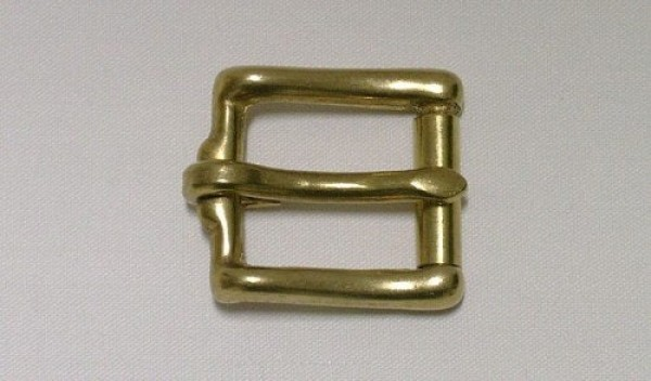 Roll buckle made of brass, for 25mm wide webbing
