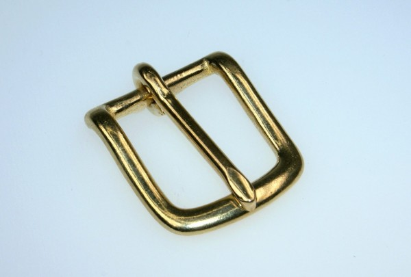harness buckle made of brass - 20mm wide webbing - 1 piece