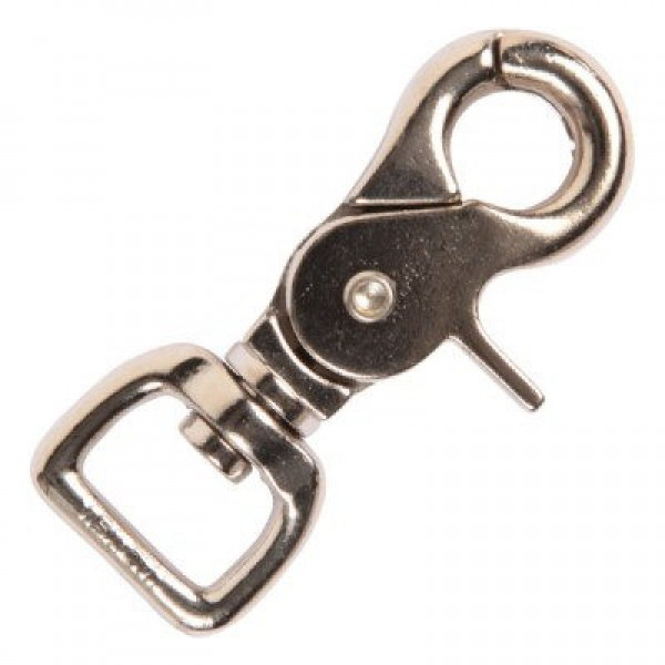 6,5cm long scissor carabiner made of zinc die casting, for 15mm wide webbing - 10 pieces