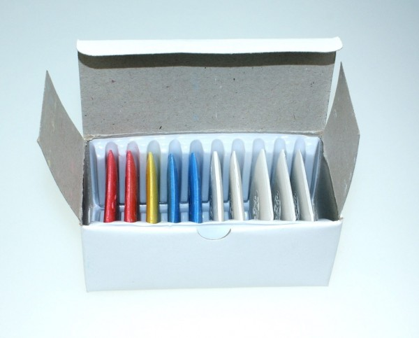 Tailor`s chalk - mixed colors - 10 pieces