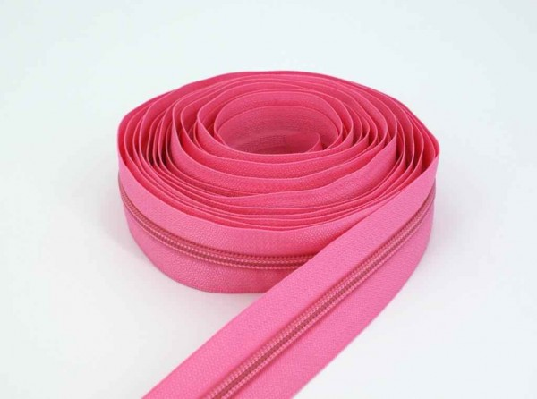 5m slide fastener, 5mm rail, color: rose