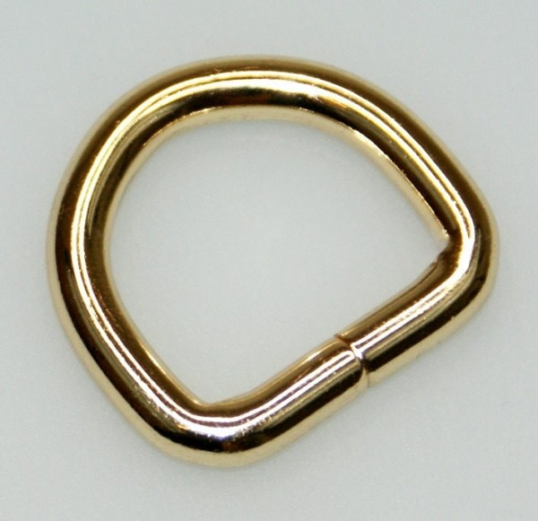 20mm D-ring (inner measurement) - 5mm thick - color: golden - 1 piece