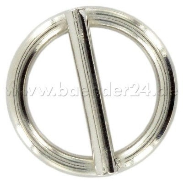 16mm ring with bar (inner measurement) - welded, made of steel - nickel-plated - 1 piece