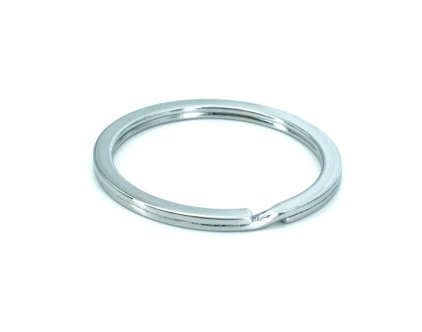 32mm key ring flat - 26mm inner diameter - chrome-plated - 100 pieces