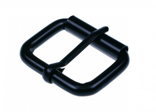 roll buckle made of round steel - black - 34 x 24 x 6mm - 10 pieces