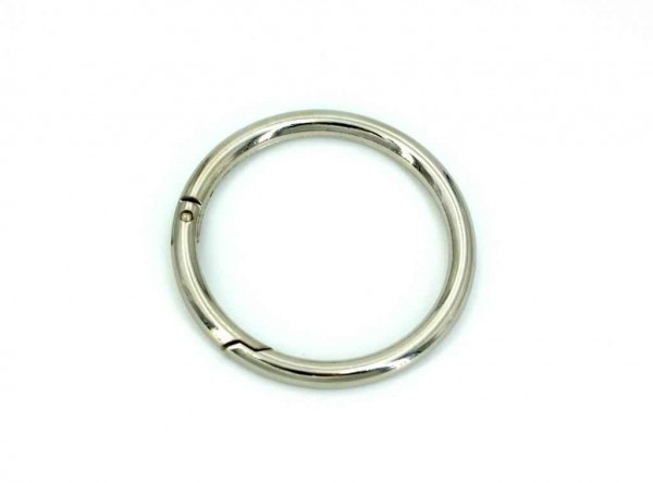 50mm toroidal ring (inner measurement) made of zinc die-casting - with spring lock - 1 piece